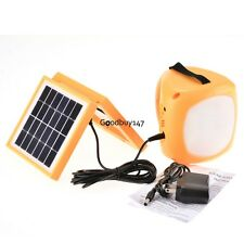 Outdoor Led Solar Rechargeable Lantern Cell Phone Charger Light Hiking Camping