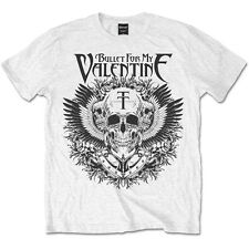 Bullet For My Valentine T Shirt Eagle Skull Official Licensed Mens White BFMV
