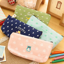 Student Pen Pencil Case Bag Cosmetic Makeup Pouch Coin Purse Stationery Spirited