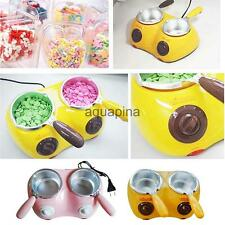 Electric 2 Oven Chocolate Cheese Melting Pot Boiler Fondue DIY Heater Set Tool