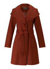Miss Selfridge NEW Belted Wrap Coat Jacket in Rust