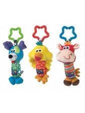 Playgro 1Pcs Baby Newborn Rattles Animals Stroller Bed Bell Clip Infant Toys