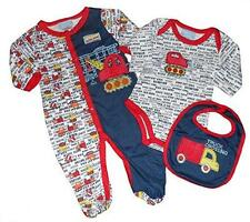 "Duck Duck Goose Baby Boys' ""Truck Crossing"" Bodysuit 3 Piece Set"