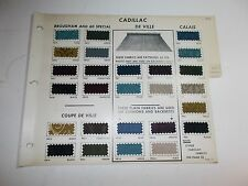 1969 CADILLAC & PLYMOUTH RARE ORIGINAL FABRIC SAMPLES DE VILLE CALAIS SATELLITE