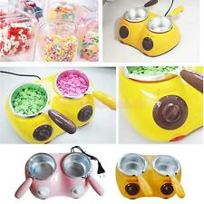 Electric 2-Oven Chocolate Cheese Candy Melting Pot Boiler Fondue Heater Set