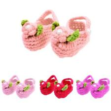 Soft Cotton Handmade Crochet Knitted Shoes Baby Boy Girl Infant Pre-Walker Gift