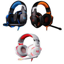 Gaming Headphone Headset Over-ear with Microphone Stereo LED Light for PC Games