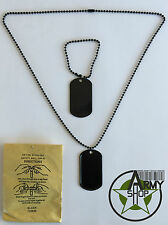 Dog tag dog tag dog tag US Army BW Pendant Necklace with Chain pendant