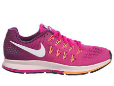 NEW WOMENS NIKE AIR ZOOM PEGASUS 33 RUNNING SHOES TRAINERS FIRE PINK / WHITE