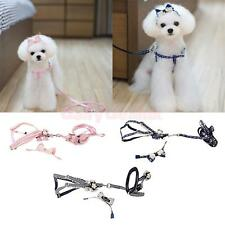 Training Dog Puppy Adjustable Harness Lead Leash Traction Rope with Headband