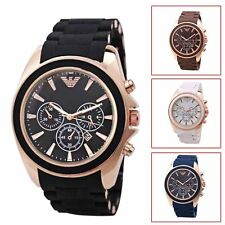 Men's Business Casual Fashion Quartz Silicone Analog Sport Watch Wristwatch