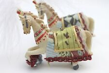 GISELA GRAHAM CHRISTMAS RESIN FANTASY CIRCUS HORSE DECORATION