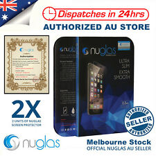 2x Genuine NUGLAS Tempered Glass Screen Protector for iPhone (X) 8 7 7 6 6s Plus