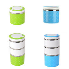 Thermal Bento Lunch Box Thermos For Food Stainless Steel Insulation Storage BF