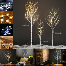 LED Silver Birch Twig Tree Light Fairy String Lights Xmas Indoor Outdoor Lamp UK