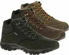 Merrell Mens Real Leather Casual Mid Ankle Boots Walking Waterproof Shoes
