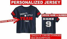 custom kids baby toddler baseball jersey t-shirt atlanta colors personalized top