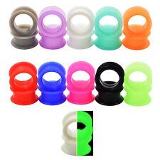 Pair Soft Silicone Flexible Ear Gauge-Ear Plugs Strecher-Flesh Tunnels-Eyelets