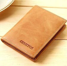 Men Genuine Leather Wallet Slim Money Clip Credit Card Holder ID Case Coin purse