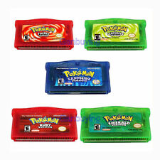 Pokemon Emerald Fire Red Leaf Green Sapphire Pocket Monster Gameboy Cartridges