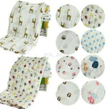 120x120 Baby Newborn Cartoon Swaddle Cotton Kids Bassinet Sleeping Wrap Blankets