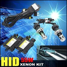 55W H4 HID Bi Xenon Headlight SLIM KIT Waterproof Ballasts Bulbs 4.3K 6K 8K 10K