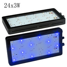 New Dimmable 72W LED Aquarium Light Full Spectrum for Grow Coral Reef Fish Tank