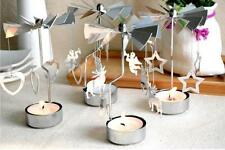 Rotary Rotating Iron Tealight Candle Holder Wedding Party Christmas Decoration