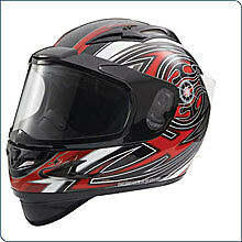 POLARIS Snowmobile Red Cyclone Helmet- Size Large - NEW  - 50% OFF