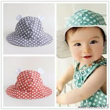 Cotton Dot Pattern Baby Hat Baby Boy Girl Summer Cap Sun Hat Bucket Hat Bonnet