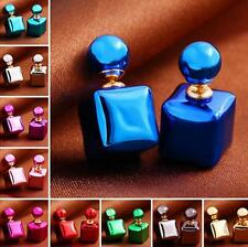Charm Women Earrings Jewelry Stud 1 Pair Square Colorful Colors Candy Statement