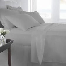 EGYPTIAN COTTON SHEET SET/DUVET/FITTED/FLAT/PILLOW ALL SIZE SILVER GREY 1000TC;