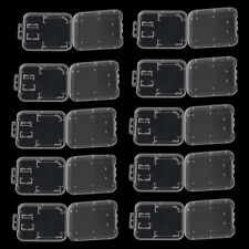 10PCS Transparent Plastic Standard SDHC SD Memory Card Case Holder Box Storage