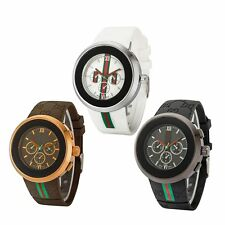 Casual Men's Business Style Quartz Silicone Band Analog Wristwatch Fashion Watch