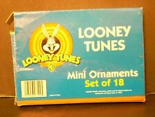 LOONEY TUNES18 MINI ORNAMENTS 1999 SYLVESTER, TWEETY, TAZ, BUGS, PORKY, ETC.(WAF