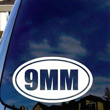 9MM Vinyl Decal Sticker Car Window Gun Ammo Pistol Home Security Ammo Can
