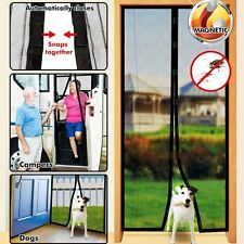 Hands Free Magic Mesh Screen Net Door with magnets Anti Mosquito Bug Curtain OT