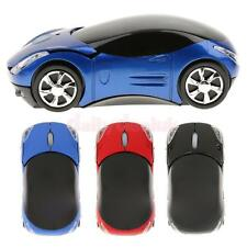 Car Shape Wireless Mice Optical Mouse w/ USB Dongle Receiver for Laptop Computer