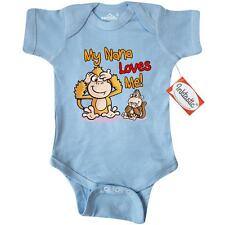 Inktastic My Nana Loves Me Monkey Infant Creeper cute baby gift one-piece
