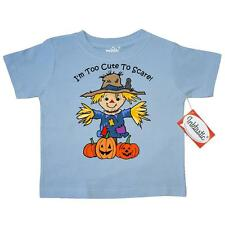Inktastic Too Cute To Scare Toddler T-Shirt scarecrow pumpkin patch halloween or