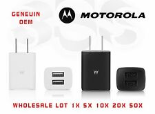 Lot Wholesale OEM Motorola Universal Dual USB 2Port Wall Travel Charger SPN5797A