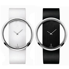 New Simple Design Round Transparent Dial women Wrist Watch