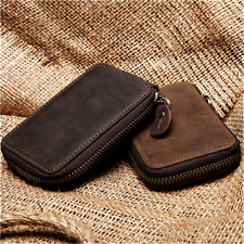 JOYIR Men's Genuine Leather Key Case Chains Wallet Car Key Holder Card Holder