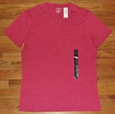 NEW NWT Mens Banana Republic Tee V-Neck T-Shirt Heathered Red Fitted Vee *3Y