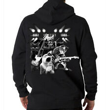 Cat Rock Kitten Band Guitar Music Animal Lovers Hooded Sweatshirt Hoodie