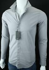 Armani Exchange A|X Mens Super Slim Covered Placket Button Front Stretch Shirt