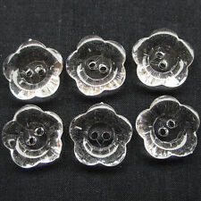 New 50/250pcs 20mm Clear Plastic Button 4 Holes Craft Clothe Sewing Decor