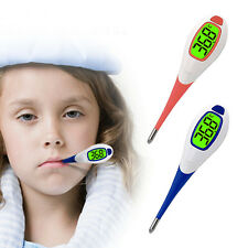 Baby Adult Body Digital Soft Head Oral Alar Thermometer Fever Alert Function