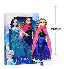 "3PCS Birthday Gift Playset Frozen Princess Elsa&Anna 12"" 29CM Doll Figures Girl"