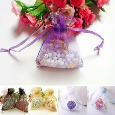 7x9 Wedding Favour Bag Jewellery Butterfly Packing Organza Pouch Gift Xmas Bags